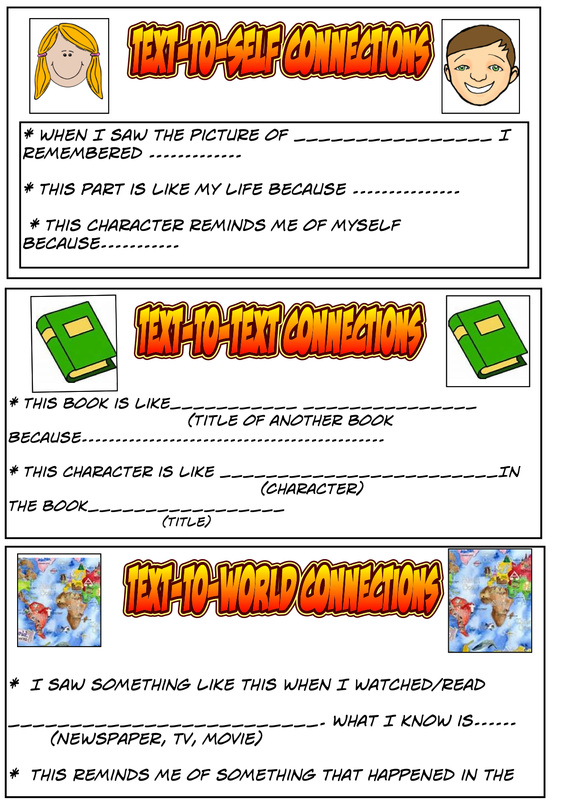 Making Connections Super Six Comprehension Strategies – Making Connections Worksheet
